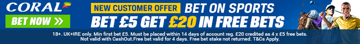 £20 Free Bets Coral